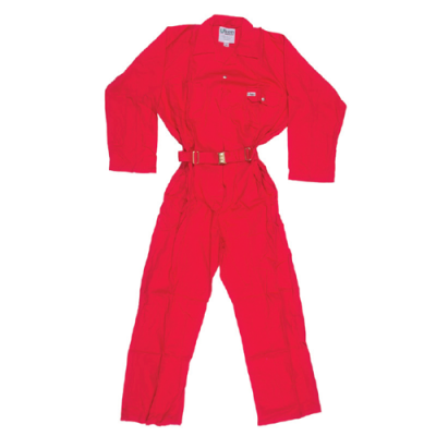 COVERALL100%COTTON RED LARGE