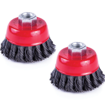 CUP WIRE BRUSH M10 X 65MM TWISTED