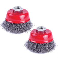 CUP WIRE BRUSH M10 X 65MM CRIMPED