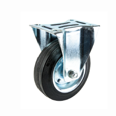 "CASTER WHEEL RUBBER 4"" SWIVEL W/BRA"
