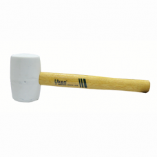 UKEN RUBBER HAMMER 16OZ WOOD HANDLE(WHITE)