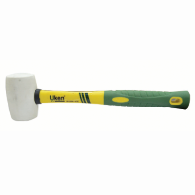 UKEN RUBBER HAMMER 24OZ FIBER HANDLE(WHITE)