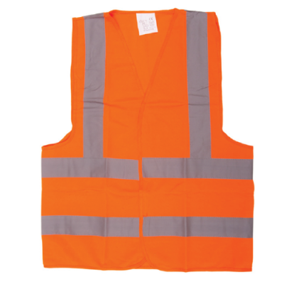 SAFETY JACKET ORANGE FABRIC TYPE XL
