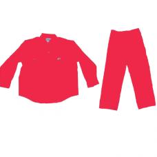 PANT SHIRT 100% COTTON - RED - LARGE